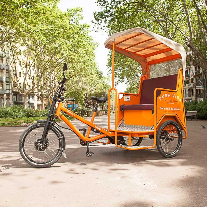Rickshaw on passeig de Sant Joan, Barcelona